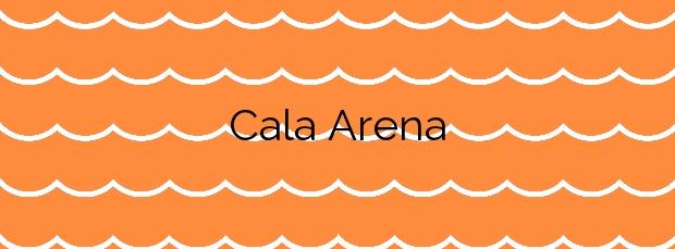 Información de la Cala Arena en Níjar
