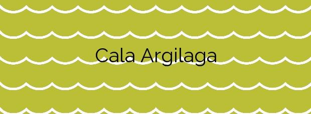 Información de la Cala Argilaga en Peñíscola