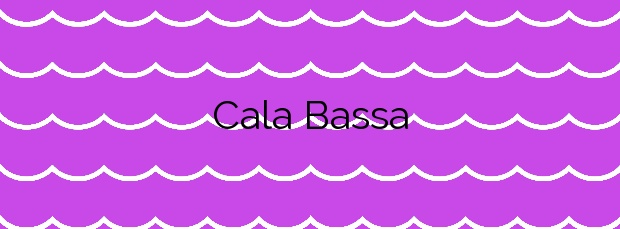 Información de la Cala Bassa en Sant Josep de sa Talaia