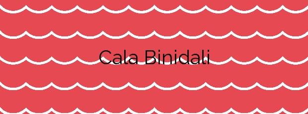 Información de la Cala Binidali en Maó
