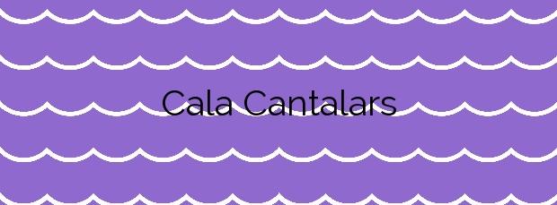 Información de la Cala Cantalars en Alicante