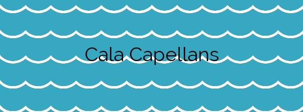 Información de la Cala Capellans en Escorca