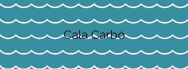 Información de la Cala Carbó en Ciutadella de Menorca