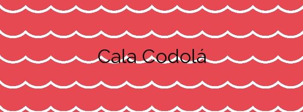 Información de la Cala Codolá en Sant Josep de sa Talaia