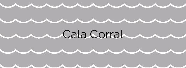 Información de la Cala Corral en Sant Josep de sa Talaia