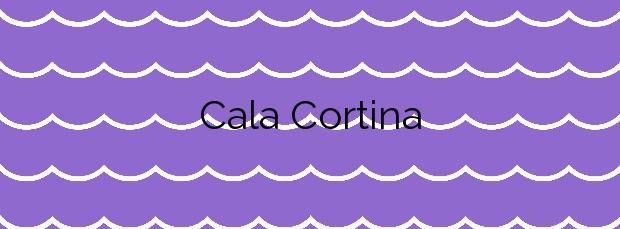 Información de la Cala Cortina en Cartagena
