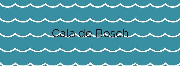 Información de la Cala de Bosch en Formentera