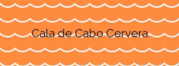 Información de la Cala de Cabo Cervera en Torrevieja
