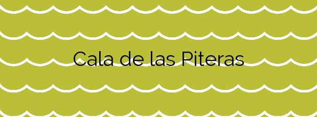 Información de la Cala de las Piteras en Torrevieja