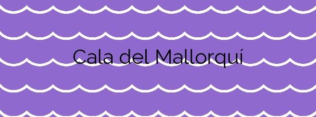 Información de la Cala del Mallorquí en Calp