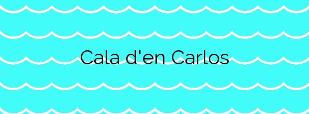 Información de la Cala d'en Carlos en Tossa de Mar