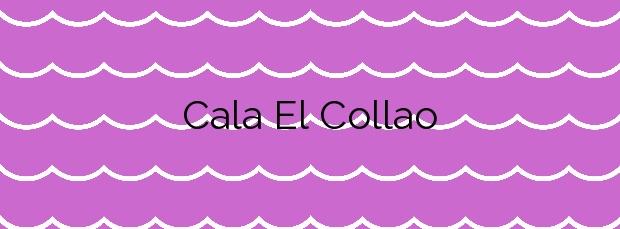 Información de la Cala El Collao en Calp