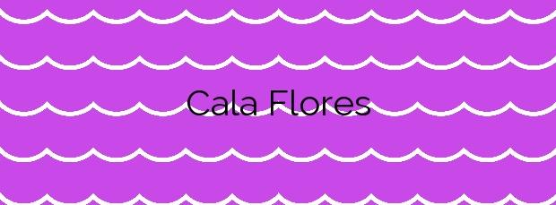 Información de la Cala Flores en Cartagena