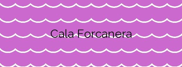 Información de la Cala Forcanera en Blanes