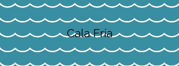 Información de la Cala Fría en Cartagena