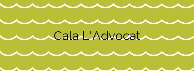 Información de la Cala L'Advocat en Benissa