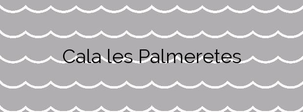 Información de la Cala les Palmeretes en El Campello