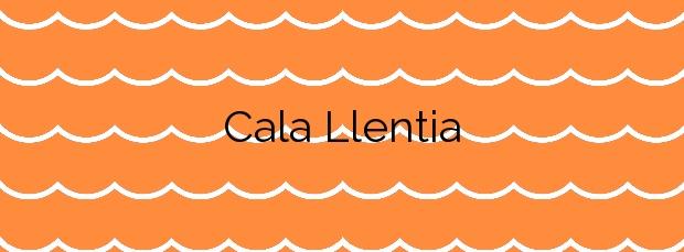 Información de la Cala Llentia en Sant Josep de sa Talaia