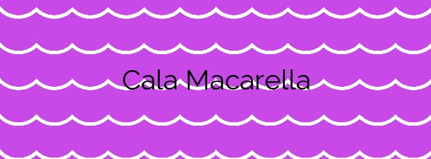 Información de la Cala Macarella en Ciutadella de Menorca