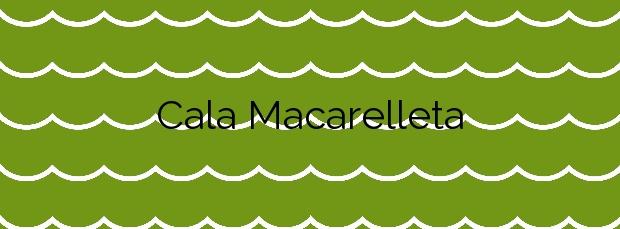 Información de la Cala Macarelleta en Ciutadella de Menorca