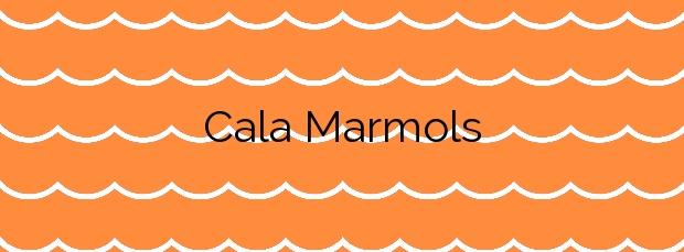 Información de la Cala Marmols en Santanyí