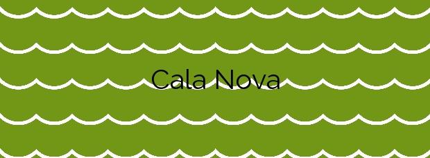 Información de la Cala Nova en Santa Eulalia del Río