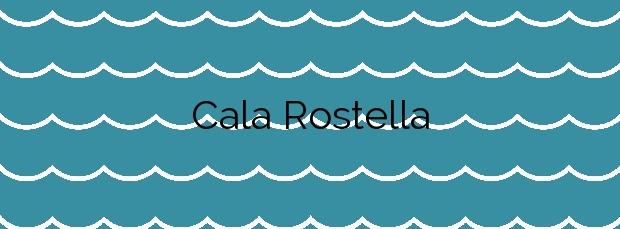 Información de la Cala Rostella en Roses