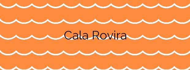 Información de la Cala Rovira en Castell-Platja d'Aro