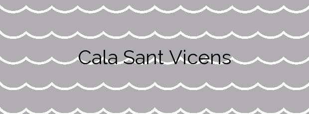 Información de la Cala Sant Vicens en Pollença
