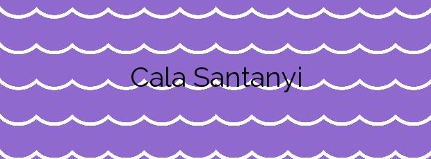 Información de la Cala Santanyi en Santanyí