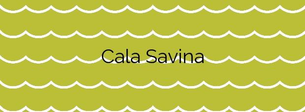 Información de la Cala Savina en Formentera