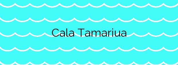 Información de la Cala Tamariua en El Port de la Selva