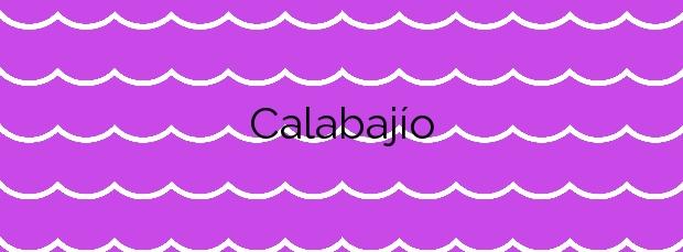 Información de la Calabajío en Almuñécar