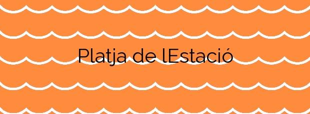 Información de la Platja de l'Estació en Badalona