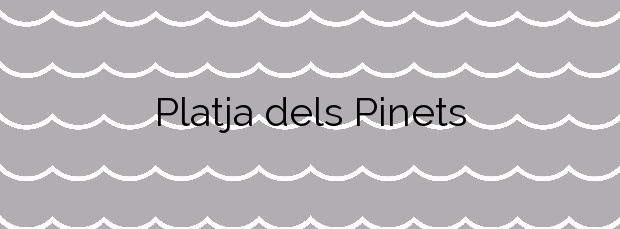 Información de la Platja dels Pinets en L'Ampolla