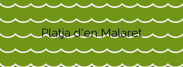 Información de la Platja d'en Malaret en Begur