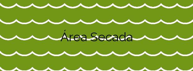 Información de la Playa Área Secada en Ribeira