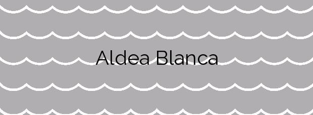 Información de la Playa Aldea Blanca en Sant Carles de la Ràpita