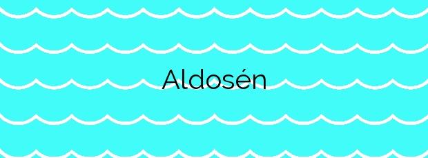 Información de la Playa Aldosén en Muros