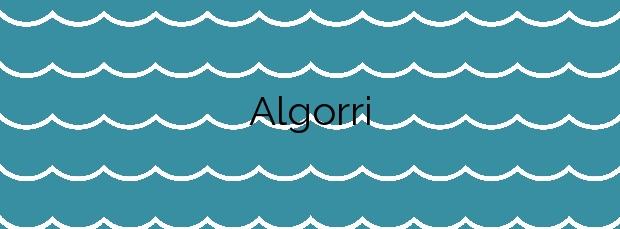Información de la Playa Algorri en Zumaia