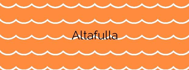 Información de la Playa Altafulla en Altafulla