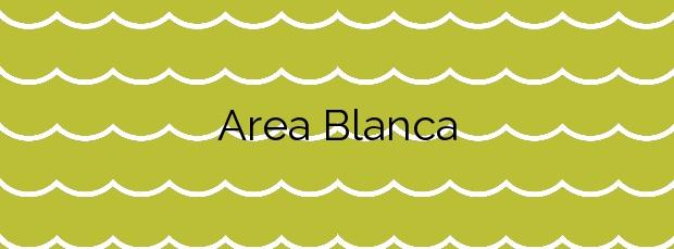 Información de la Playa Area Blanca en Carnota