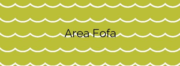 Información de la Playa Area Fofa en Nigrán