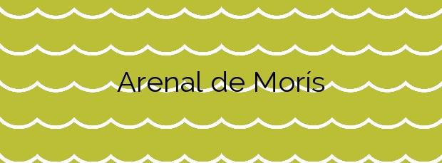 Información de la Playa Arenal de Morís en Caravia