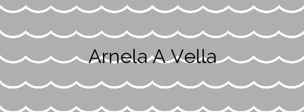 Información de la Playa Arnela A Vella en Sada