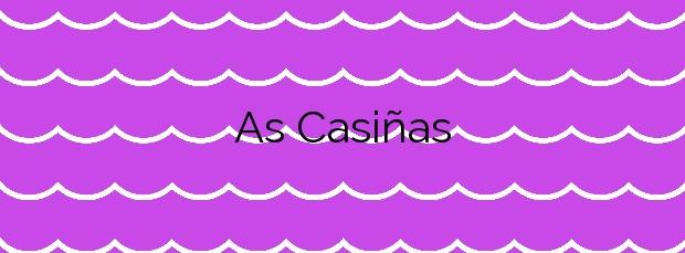 Información de la Playa As Casiñas en Vilanova de Arousa
