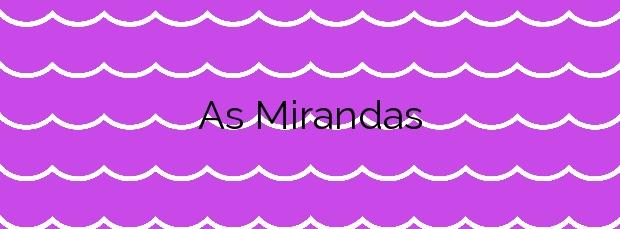 Información de la Playa As Mirandas en Ares