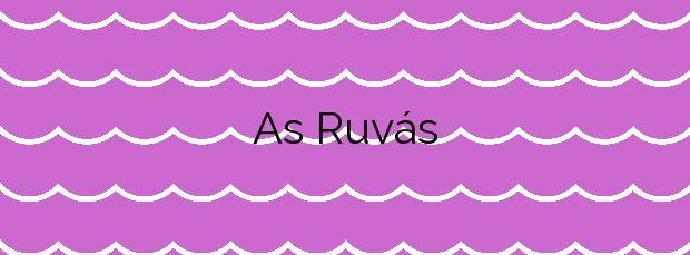 Información de la Playa As Ruvás en A Illa de Arousa