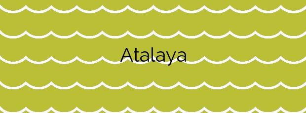 Información de la Playa Atalaya en Oleiros