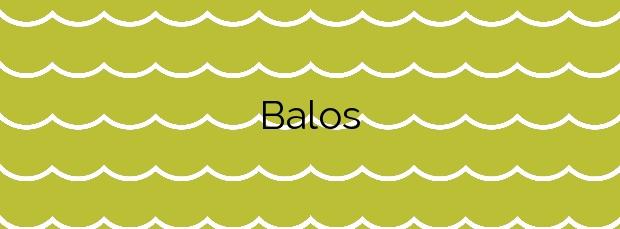 Información de la Playa Balos en Agüimes